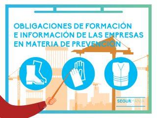 Obligaciones de formación e información de las empresas en materia de prevención