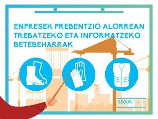 Enpresek prebentzio alorrean trebatzeko eta informatzeko betebeharrak