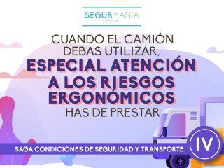 Cuando el camión debas utilizar especial atención a los riesgos ergonómicos has de prestar – SAGA CONDICIONES DE SEGURIDAD Y TRANSPORTE (IV)